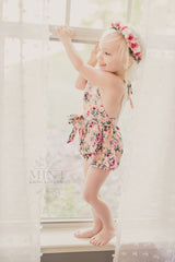 Fun & Fancy Floral Romper