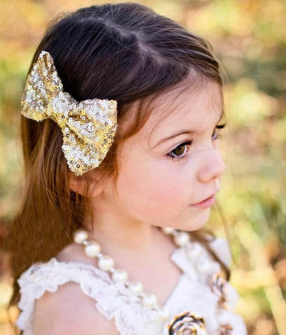 Sequin Bow Clip