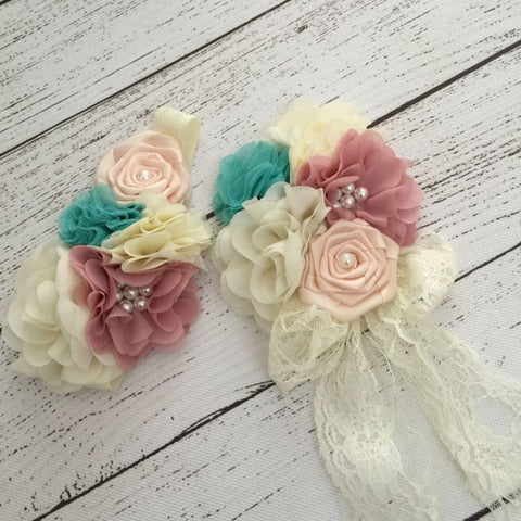 Shabby Chic Headband and Clip