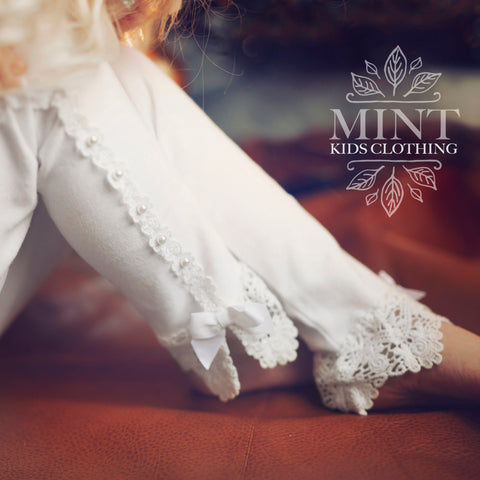 VINTAGE LACE LEGGINGS WHITE