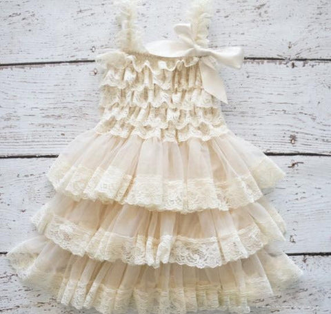 Rustic Ruffle Dress