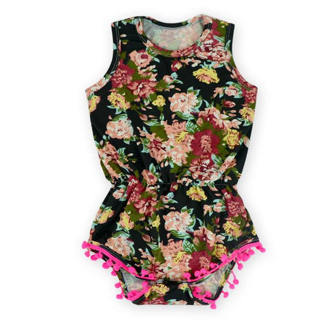Antique Dark Rose Romper