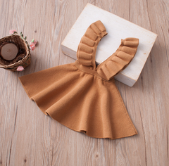 Ruffle Jumper Dress- SAND