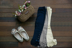 VINTAGE LACE LEGGINGS GREY