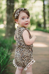 Leopard Romper and Headband Set