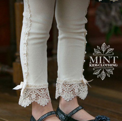 VINTAGE LACE LEGGINGS CREAM