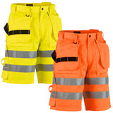 Blaklader Hi Vis Work Shorts with Nail Pockets (PolyCotton 300gm) - 1535