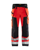 Blaklader Hi Vis Trousers Water Repellent Kneepad & Nail Pockets(Polycot) - 1568