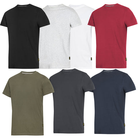 Snickers Workwear Classic Work T Shirt. 100% Combed Cotton. 8 Colours - 2502