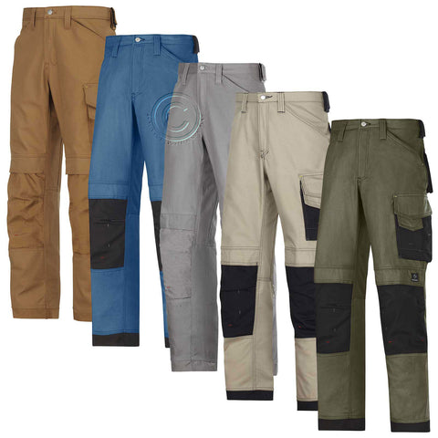 Snickers Work Trousers with Kneepad Pockets . Canvas+. UK DEALER-3314