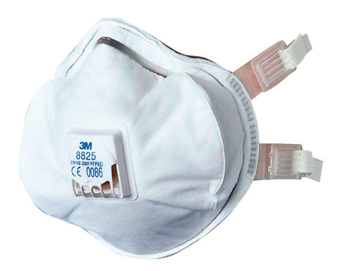 3M Buckle Strap Respirator Mask P2V (Pack Of 5) - 8825 - Respiratory - 3M