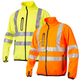 Projob Hi Vis Softshell  Work Jacket (Wind & Waterproof) Class 3 - 646412