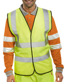 B-Seen En471 Hi Vis Safety Vest App G Saturn - Wceng