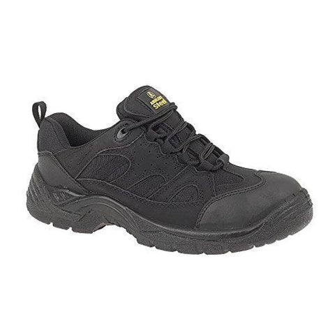 Amblers Steel FS214 Black Safety Trainer - FS214 - Black / 4 - safety trainers Amblers