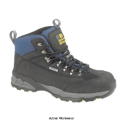 Amblers Steel FS161 Safety Boot SBP Steel Toe and Midsole- 09635-10210 - Black / 6 - Boots Amblers