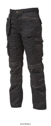 Apache Heavy Duty Work Trousers (Kneepad & Holster Pockets) - APKHT - Black / W30 x L29 - Trousers APACHE