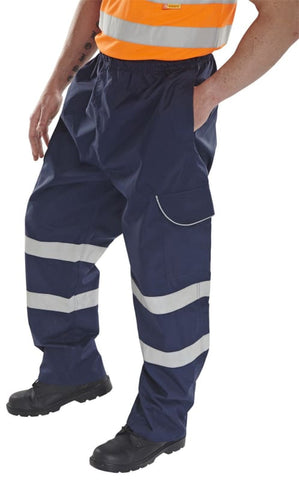 B-Dri Waterproof And Breathable Vis Navy Overtrousers - Bd118 - 5X Large / Navy - Waterproofs BdriWeatherproof