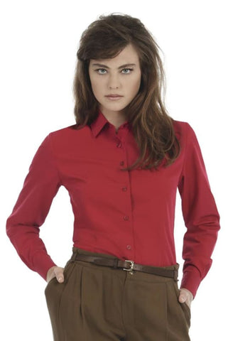 B&C Ladies Smart Long Sleeve Corporate Shirt-SWP63 - Shirts & Blouses B and C