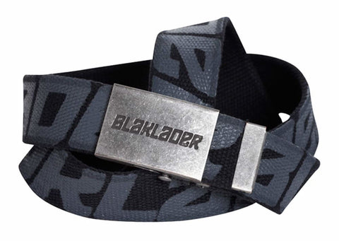 Blaklader Canvas Work Belt with Logo on Silver Buckle - 4033 - Accessories Belts Kneepads etc - Blaklader