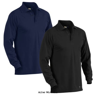 Blaklader Flame Retardant Long Sleeved Pigue Polo Shirt - 3374 - Fire Retardant Blaklader