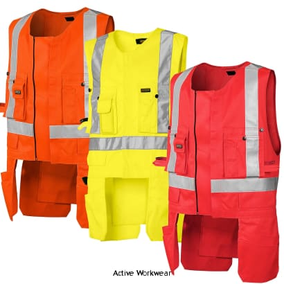 Blaklader Hi Vis Safety Work Tool Vest with Zip. Class 2 - 3027 - Toolvests Toolbelts & Holders Blaklader