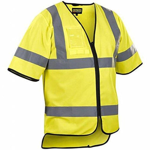 Blaklader Hi Vis Safety Work Vest with Zip. Class 3 - 3023 - Yellow 3300 / Large/X Large - Hi Vis Tops Blaklader