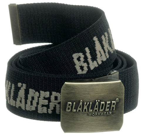 Blaklader Stretch Work Belt (Antique Brass Buckle with Logo) - 4003 - Accessories Belts Kneepads etc - Blaklader