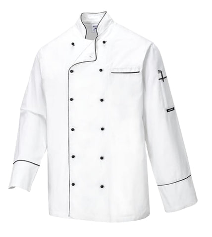 Cambridge Long Sleeved Mesh Air Chef Jacket - C775 - Catering & Hospitality PortWest