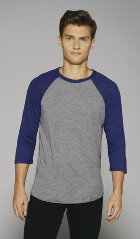 Canvas 3/4 Sleeve Baseball T-Shirt-CA3200 - Shirts Polo & T-Shirts Bella