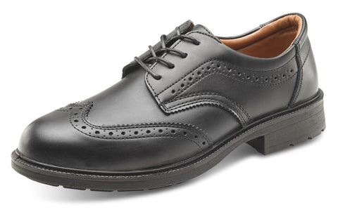 Click Managers Safety Brogue Shoe Black S1 Steel Toe - Sw2011 - Shoes - ClickFootwear