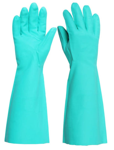 Click Nitrile Green Safety Glove 18 (Pack Of 5) - Hand Protection - Click2000