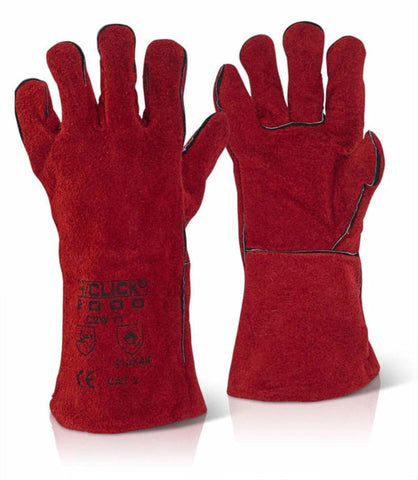 Click Red Welders Gauntlet 14 Cat 2 (Pack Of 60) - C2W - Hand Protection Click2000