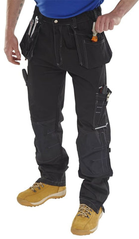 Click Shawbury Multi Pocket Work Trousers With Kneepad & Holster Pockets - Smpt - 30W x 32L - Trousers clickworkwear