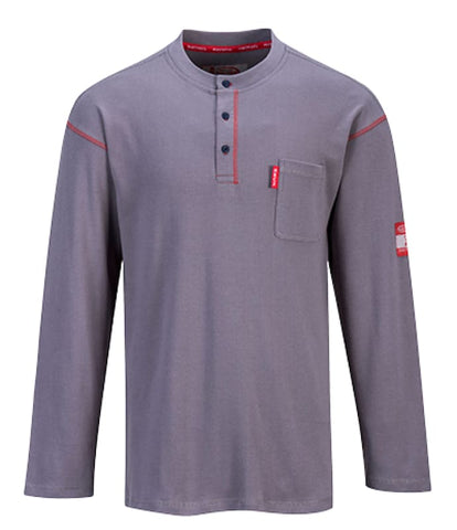 Crew Neck Button T-Shirt - FR02 - Shirts Polos & T-Shirts PortWest