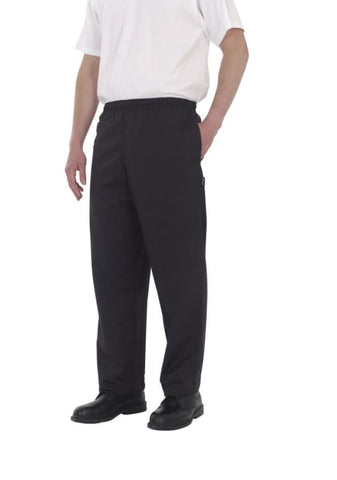 Dennys Black Elasticated Trouser-DC18B - Catering & Hospitality Dennys
