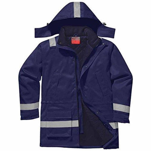 Flame Retardent Winter Padded Jacket - FR59 - Navy / Large - Workwear Jackets & Fleeces Portwest