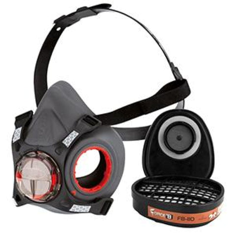 JSP Force 8 Half-Mask with A1 Classic Filters - Respiratory JSP