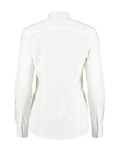 Kustom Kit Ladies L/S Workforce Shirt-KK729 - White / 10 - Shirts Polos & T-Shirts Kustom Kit