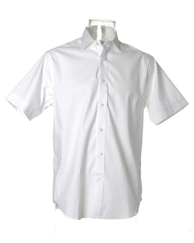 Kustom Kit Mens Superior Oxford Short Sleeved Shirt - KK117 - White / 15 - Shirts Polos & T-Shirts Kustom Kit