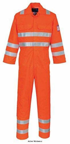 Modaflame Inherent Flame Retardent RIS Gort 3279 HVO Coverall - MV91 - Large / Orange - Fire Retardant Portwest