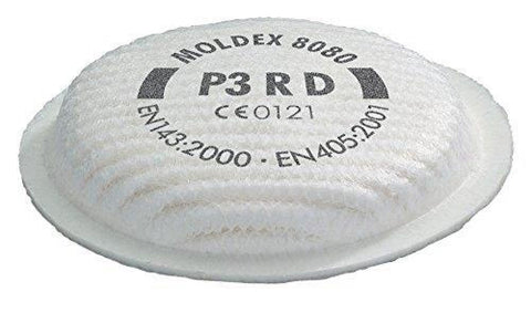 Moldex 8080 Filter P3Rd For Respirator (Pack Of 4) - M8080 - Respiratory moldex