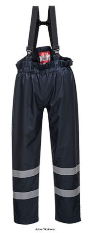 Portwest Bizflame Flame Retardent Anti Static FRAS  Rain Bib Trousers - S772 - Fire Retardant PortWest