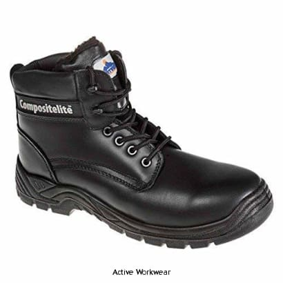 Portwest Fur Lined Winter Thor Composite Safety Boot S3- FC12 - 38 / BLACK - Boots Portwest