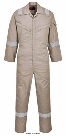 Portwest Inherent Lightweight Araflame Silver Coverall - AF73 - Boilersuits & Onepieces - Portwest