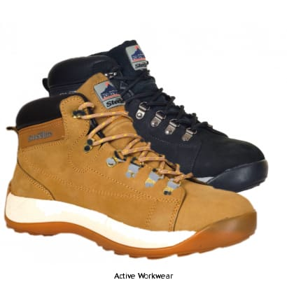 Portwest Nubuck Safety Boot Steel Toe SB - FW31 - Boots Portwest
