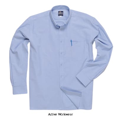 Portwest Oxford Shirt Long Sleeve - S107 - Shirts Polos & T-Shirts PortWest