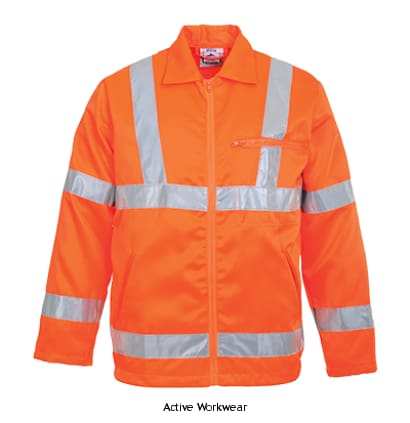 Portwest Rail Hi-Vis Polycotton Work Jacket RIS 3279 - RT40 - Hi Vis Jackets PortWest