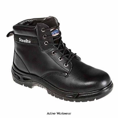 Portwest S3 Steelite Safety Boot Steel Toe and Steel Midsole - FW03 BLACK - Boots Portwest