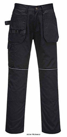 Portwest Value Tradesman Holster Pocket Work Trousers with Kneepad pockets - C720 - Black / 28 - Kneepad Trousers Portwest