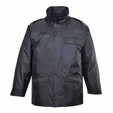 Portwest Weatherproof Security Guarding work Jacket - S534 - Large / BLACK - Workwear Jackets & Fleeces Portwest